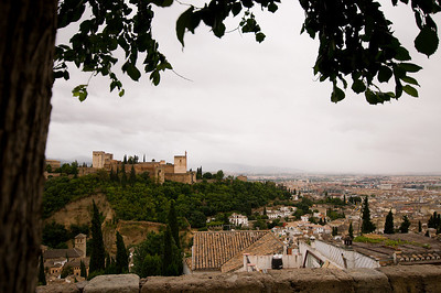 View overlooking Alhambra, which has been called the most remarkable fortress ever constructed.