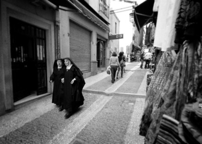 Out for a stroll on the streets of Granada.