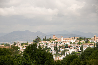 A beautiful scenic view from Alhambra.