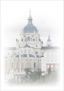 The Almudena Cathedral in Madrid.