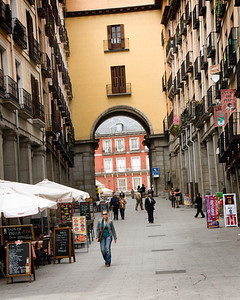 Archway leading to Plaza Mayor.