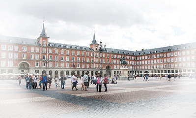 Plaza Mayor in the heart of Old Madrid.