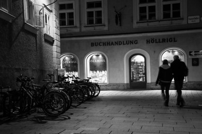 'Round midnight in Salzburg.