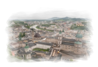 View from the Hohensalzburg Fortress.