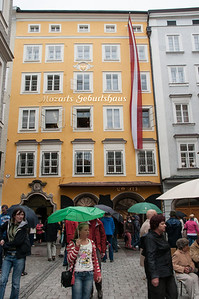 Mozart was born in this house in 1756, and lived here for 17 years.