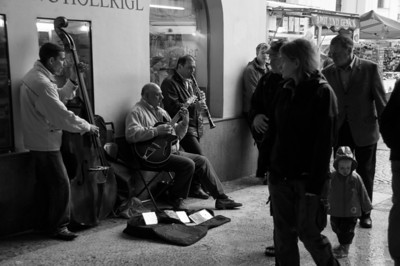 Street musicians in Salzburg are really talented.