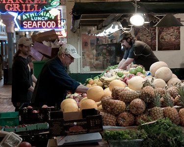 Early morning at Pike Place Market.