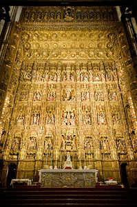 This is the world's largest and richest altar, containing more than 1,000 hard-carved figures, all covered with gold.