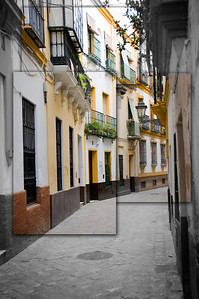 The streets of Seville.