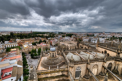 View from the cathedral's Giralda Tower. Quite a climb, but worth it.