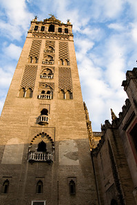 The church's Giralda Tower was originally a minaret from a Muslim mosque.