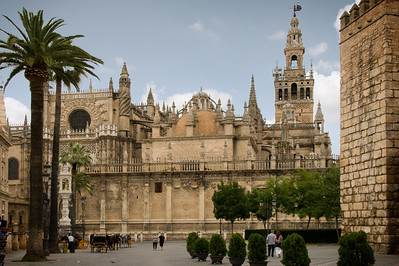The massive cathedral in Seville ... the third largest church in the world.
