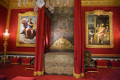 The King's bedchamber, Versailles, France
