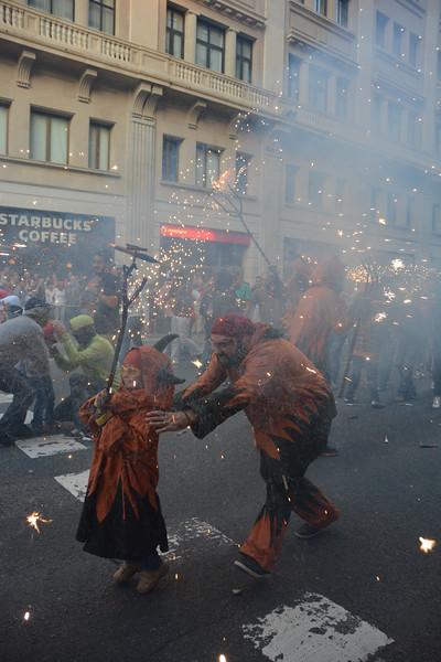Little Fire Run, La Merce, Barcelona, Spain