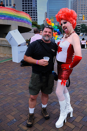 Pictoria Secret and the Bear (What she called me...) 2011 Gay Pride, Richmond, VA.