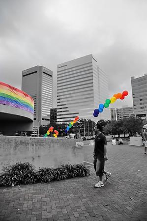 In the shadow of.... 2011 gay Pride, Richmond, VA.