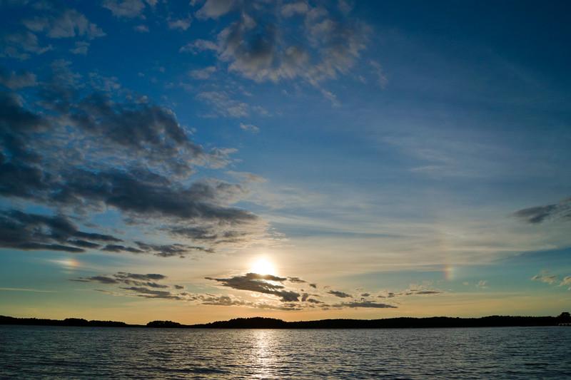 Rainbow at Sunset