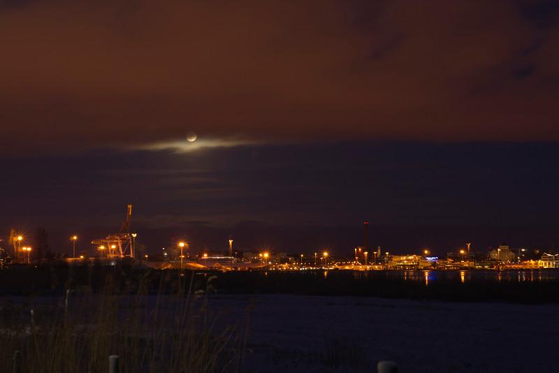 Full Moon over Turku Harbour