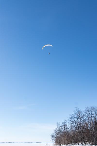 Powered Paraglider near Kello