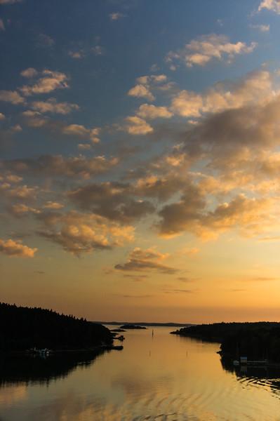 Sunset at the Turku Archipelago