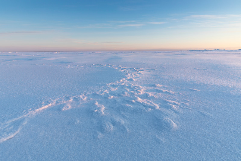 Snowpatterns on the sea at Hailuoto