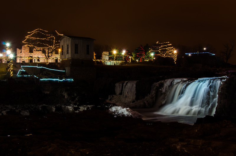 Holiday Lights at the The Falls
