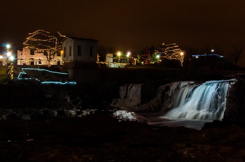 Holiday Lights at the The Falls