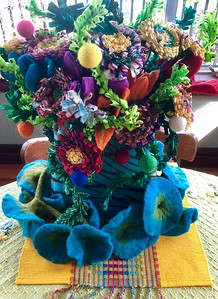 Felted and Fabric Flowers