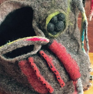 Felted Sculpture - Detail