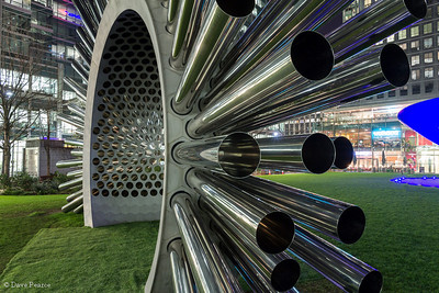 Aeolus - Acoustic Wind Pavilion, Canary Wharf