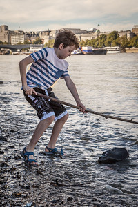 Sam Fishing in the Thames