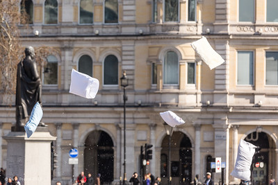 Trafalgar Square Pillow Fight 2013.