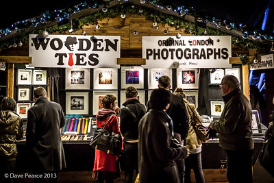Christmas market stall.