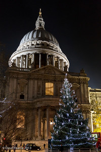 Christmas tree at St Pauls.