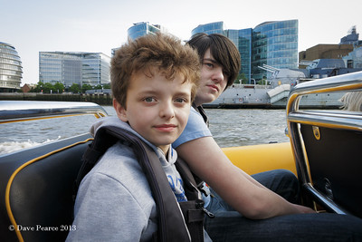 Out on the Thames in a Rib.