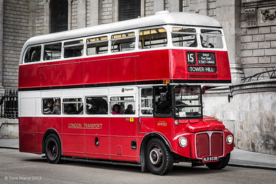 Old style London bus.