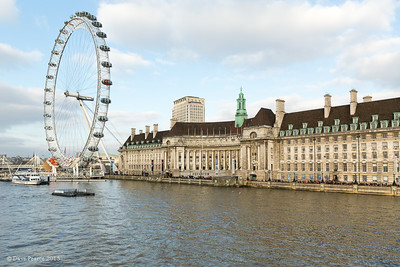 County Hall and the EDF Energy London Eye.