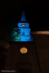 St Lukes at night.