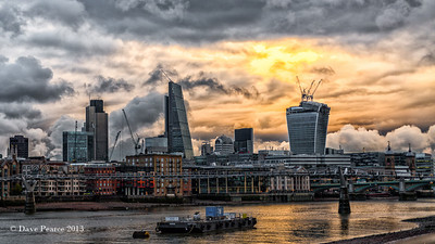 More crazy clouds over the city of London