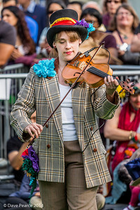 On the Fiddle at Trafalgar square.