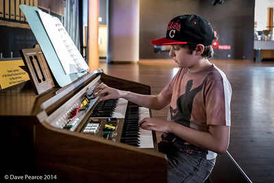 Playing the organ at the RFH, Southbank.