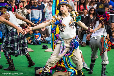 Morris Dancers in Trafalgar Square