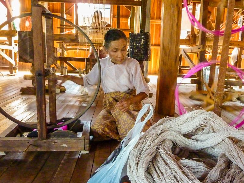 In Phaw Khone, Inle Lake, Myanmar - Weaving Village