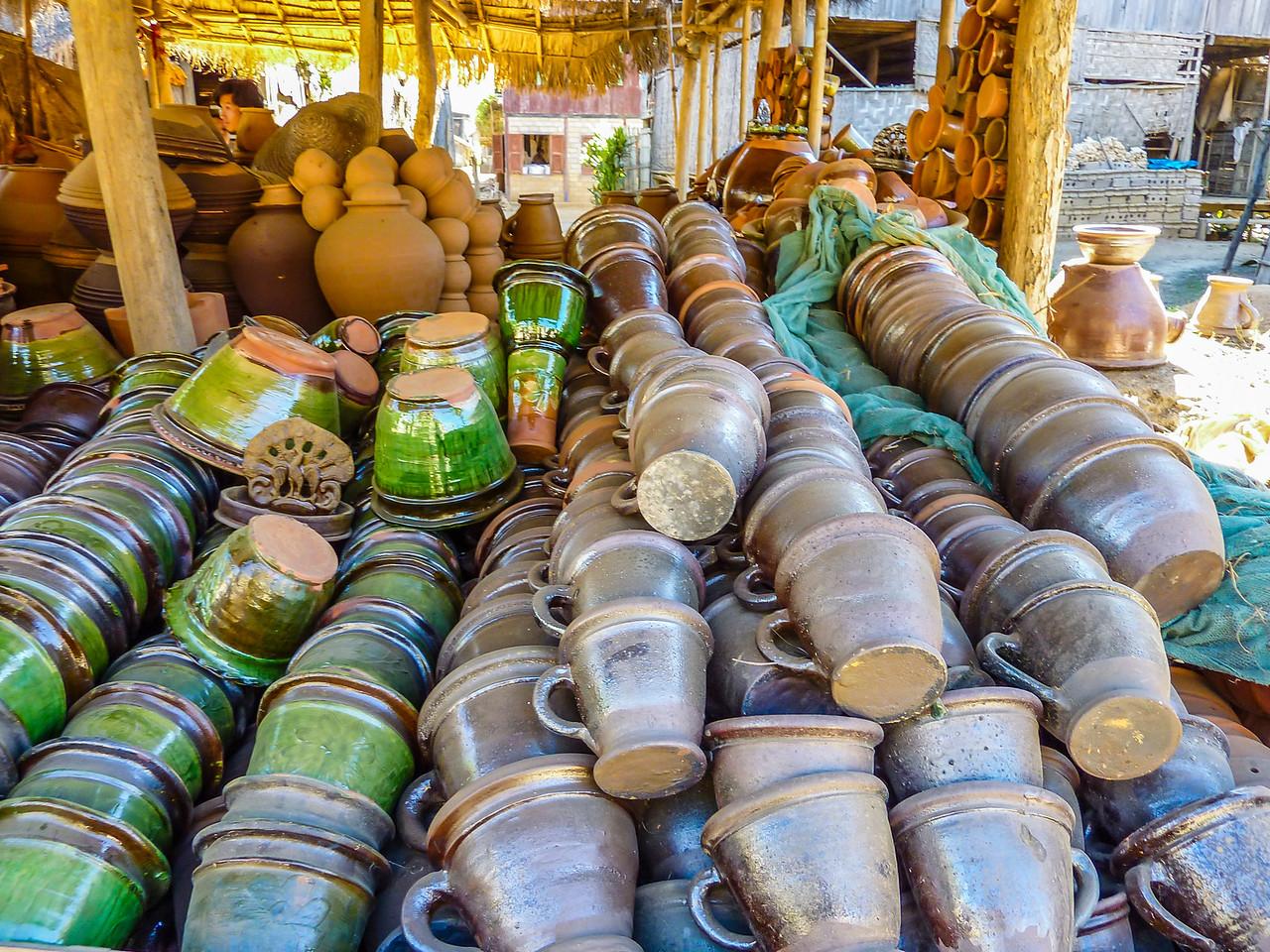 Kyauk Taung Pottery village, Inle Lake, Myanmar