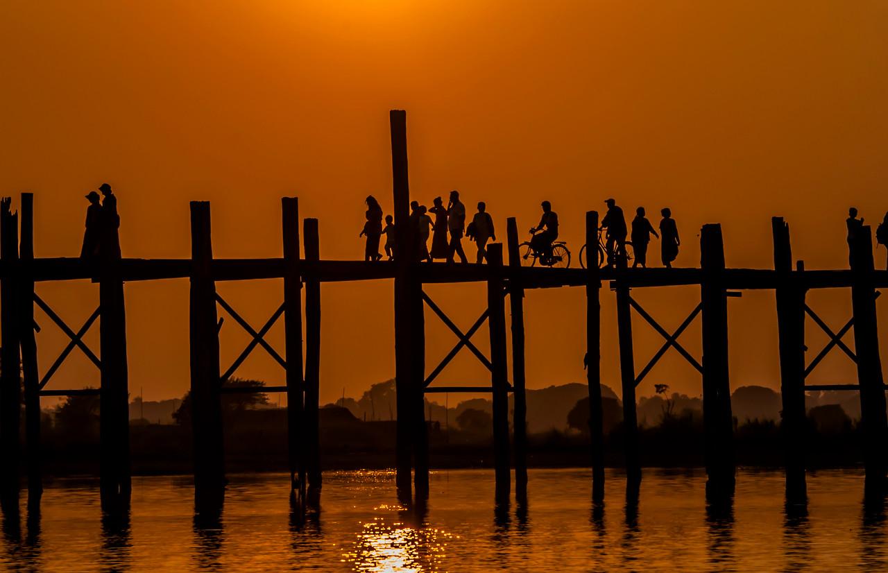 Myanmar 2011 - U Bien's Bridge, Mandalay