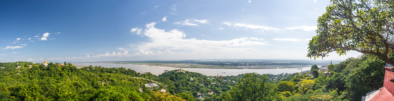 Panoramic view from Soon Oo Pon Nya Shin Pagoda