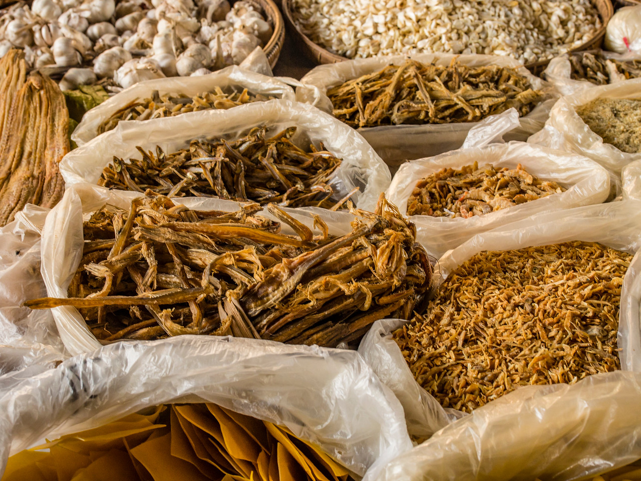 Kani morning market, Chindwin River, Myanmar
