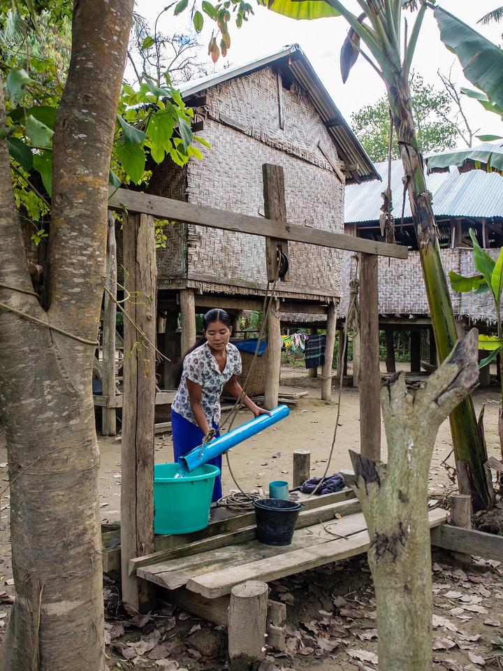 Kong village, Chindwin River, Myanmar