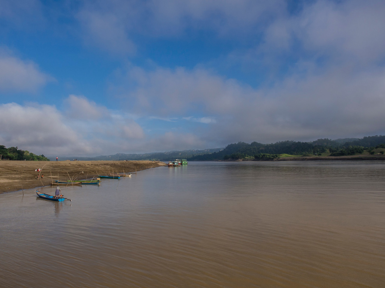 Morning on the Chindwin River, Myanmar