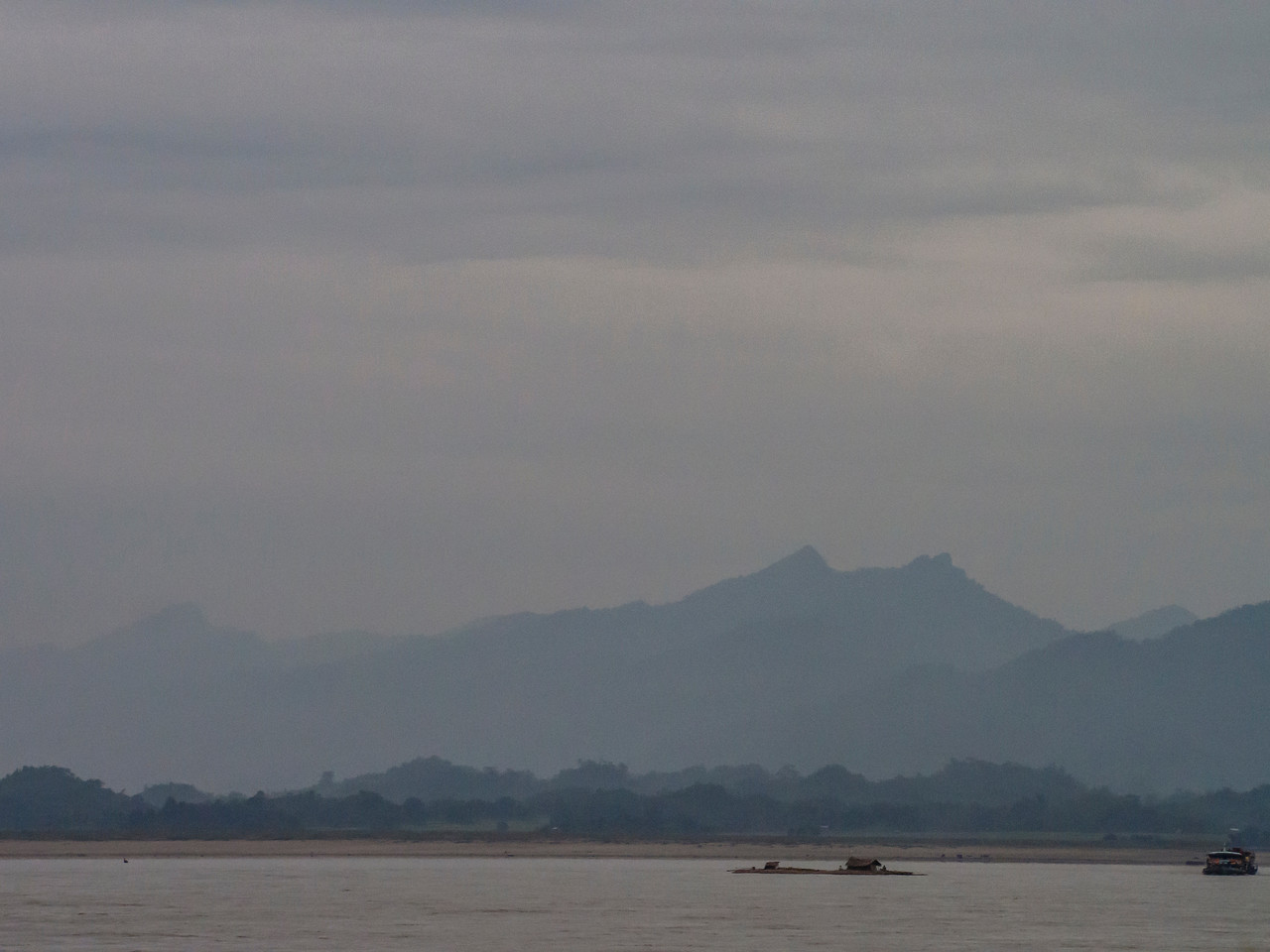 Morning on the Chindwin River